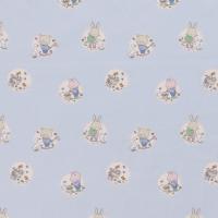 Babytiere Baumwolle hellblau
