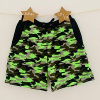 Sommer-Shorts Camouflage neon