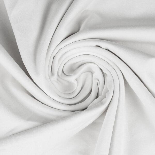 Baumwolljersey 000011 uni, weiß