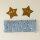 Stirnband Möwen und Sterne hellblau