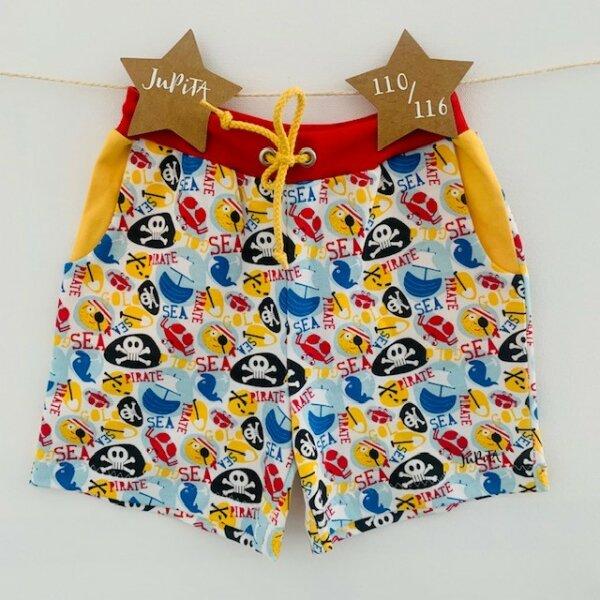 Sommer-Shorts Piraten weiß