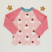 T-Shirt Langarm Ballerinas rosa