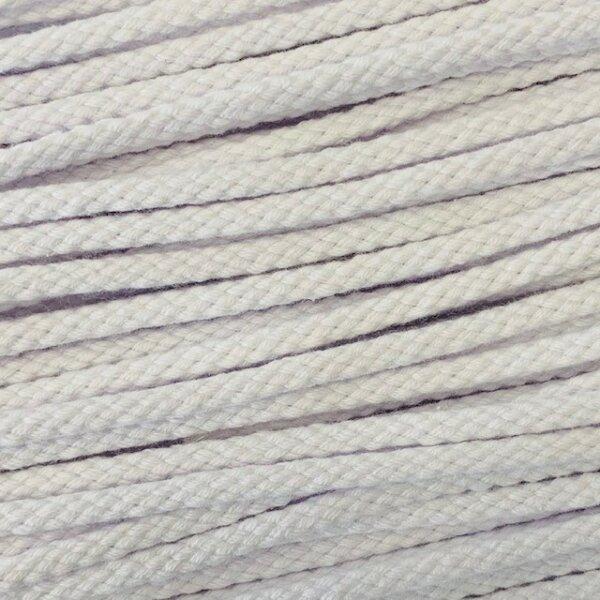 Flechtkordel 6mm weiß