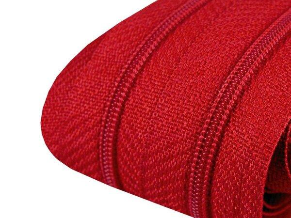 Reißverschluss 3mm rot
