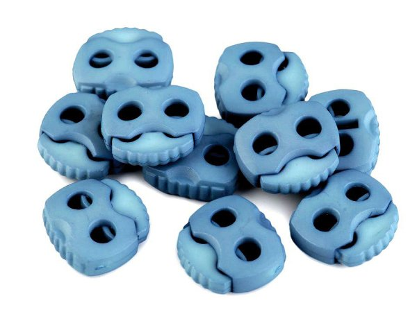 Duo-Kordelstopper 20x20mm blau