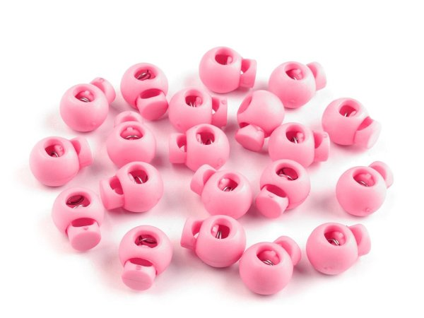 Kordelstopper rund 15x19mm rosa
