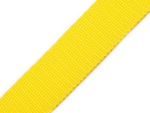 Gurtband 25mm gelb