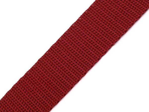 Gurtband 25mm weinrot