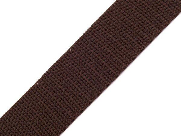 Gurtband 25mm dunkelbraun