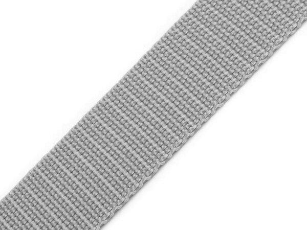 Gurtband 25mm hellgrau
