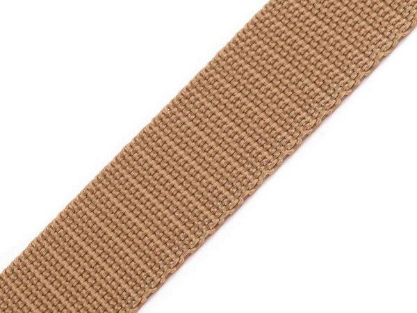 Gurtband 30mm hellbraun